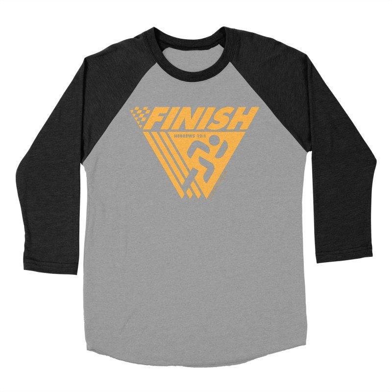 FINISH Retro Race Tee Women's Baseball Triblend Longsleeve T-Shirt by WalkingStick Design's Artist Shop