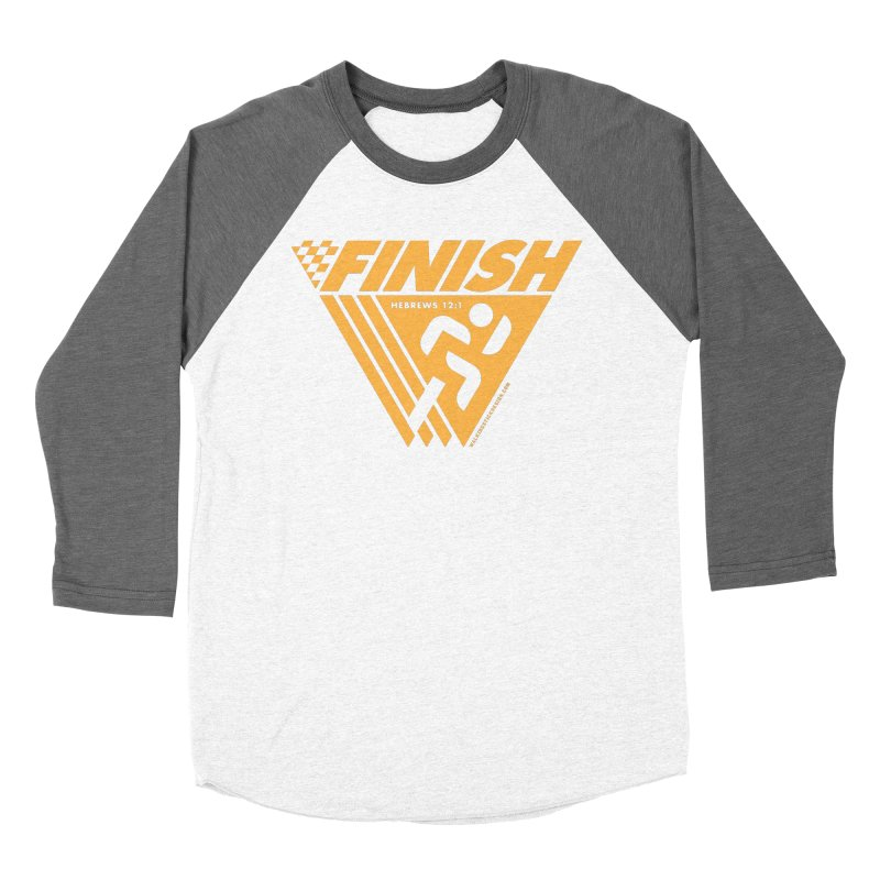 FINISH Retro Race Tee Men's Baseball Triblend Longsleeve T-Shirt by WalkingStick Design's Artist Shop