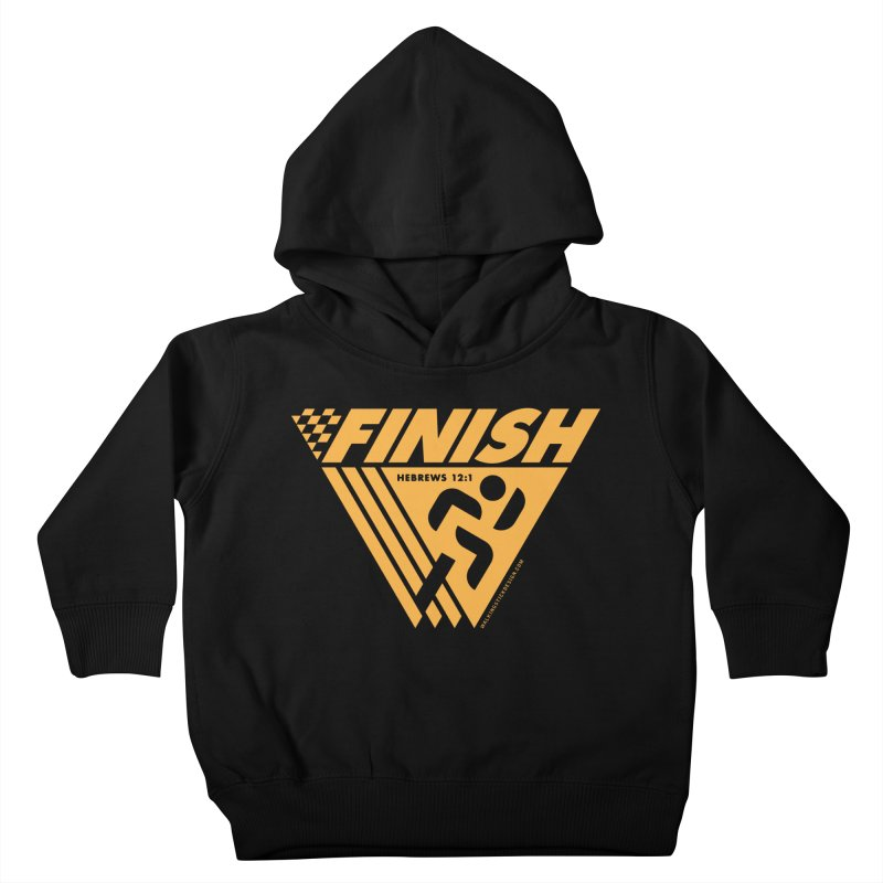 FINISH Retro Race Tee Kids Toddler Pullover Hoody by WalkingStick Design's Artist Shop