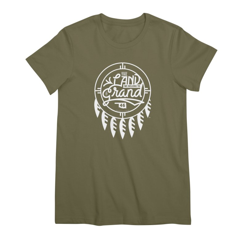 The Land + Shield Women's Premium T-Shirt by WalkingStick Design's Artist Shop