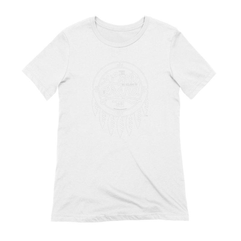 The Land + Shield Women's Extra Soft T-Shirt by WalkingStick Design's Artist Shop