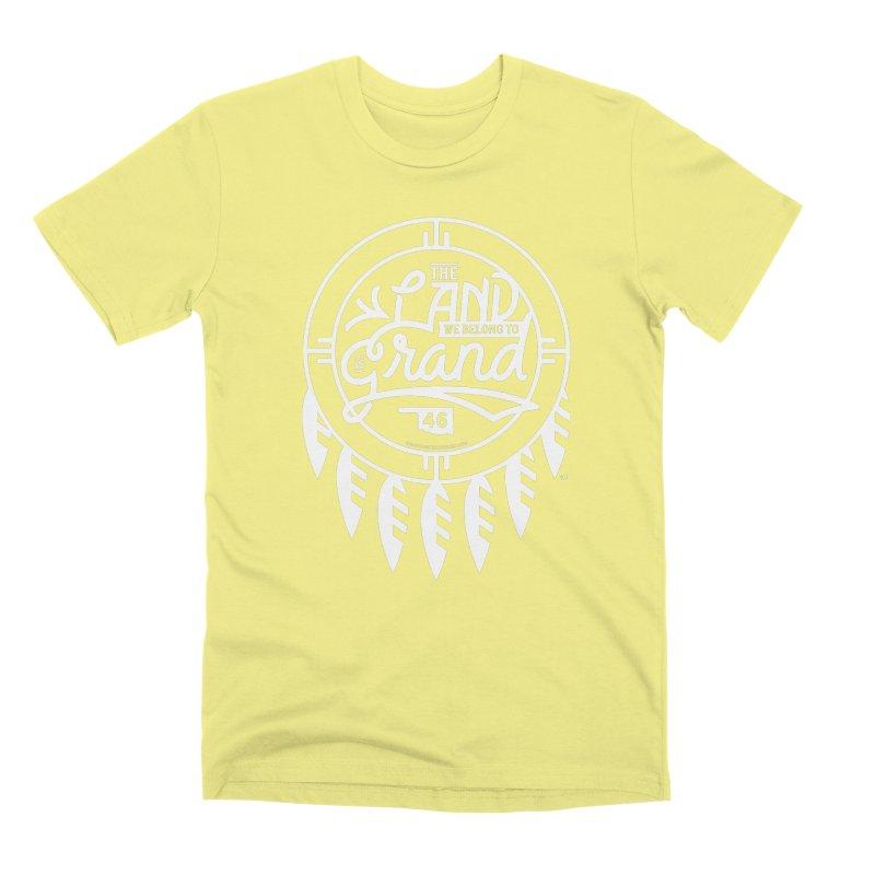 The Land + Shield Men's Premium T-Shirt by WalkingStick Design's Artist Shop