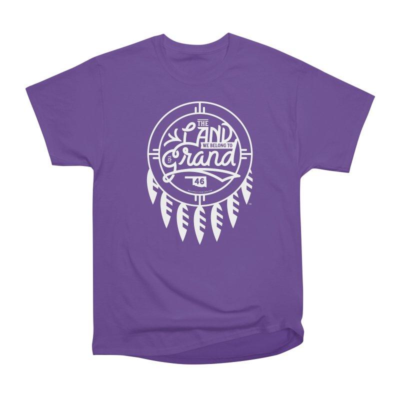 The Land + Shield Men's Heavyweight T-Shirt by WalkingStick Design's Artist Shop
