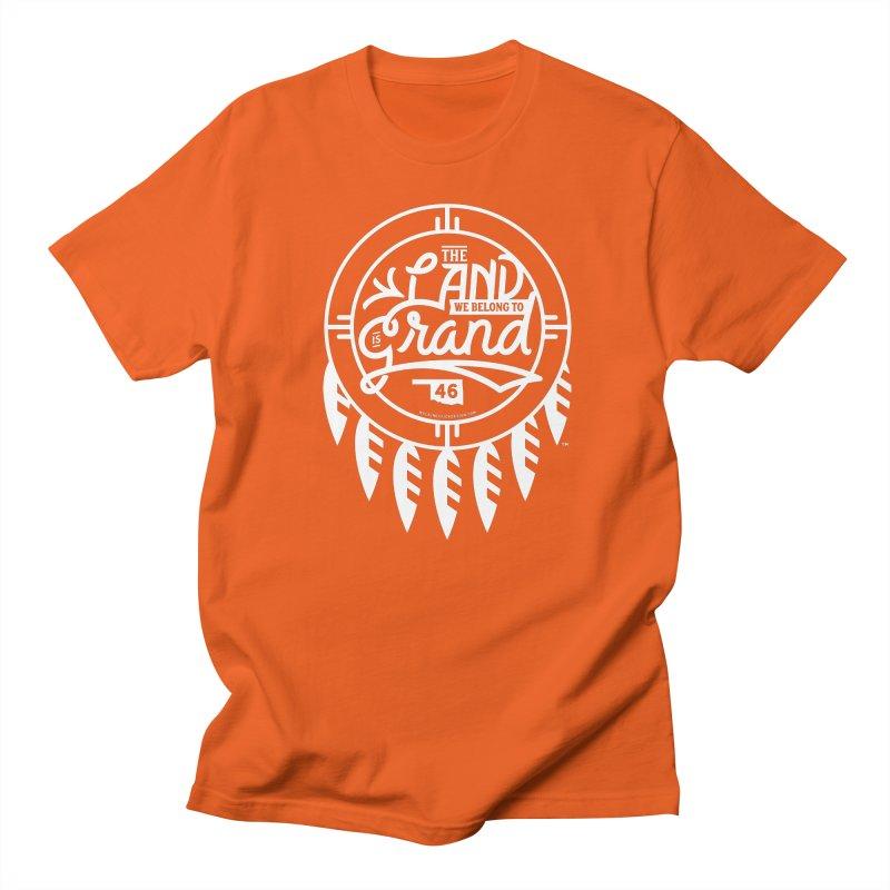 The Land + Shield Men's Regular T-Shirt by WalkingStick Design's Artist Shop