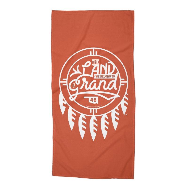 The Land + Shield Accessories Beach Towel by WalkingStick Design's Artist Shop