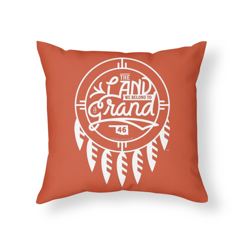 The Land + Shield Home Throw Pillow by WalkingStick Design's Artist Shop