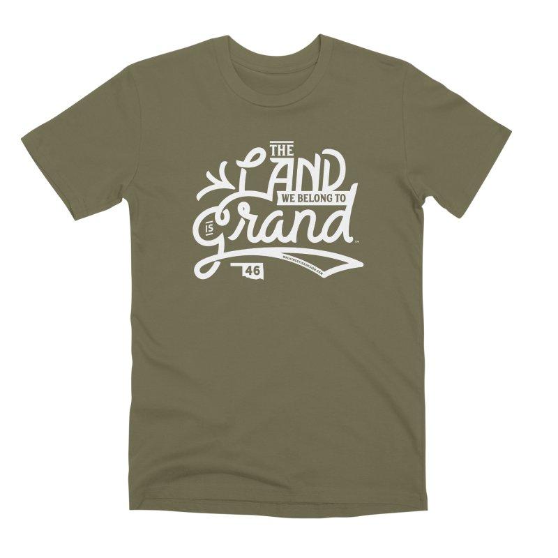 The Land Men's Premium T-Shirt by WalkingStick Design's Artist Shop