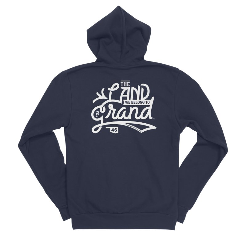 The Land Women's Sponge Fleece Zip-Up Hoody by WalkingStick Design's Artist Shop
