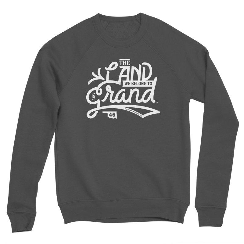 The Land Men's Sponge Fleece Sweatshirt by WalkingStick Design's Artist Shop