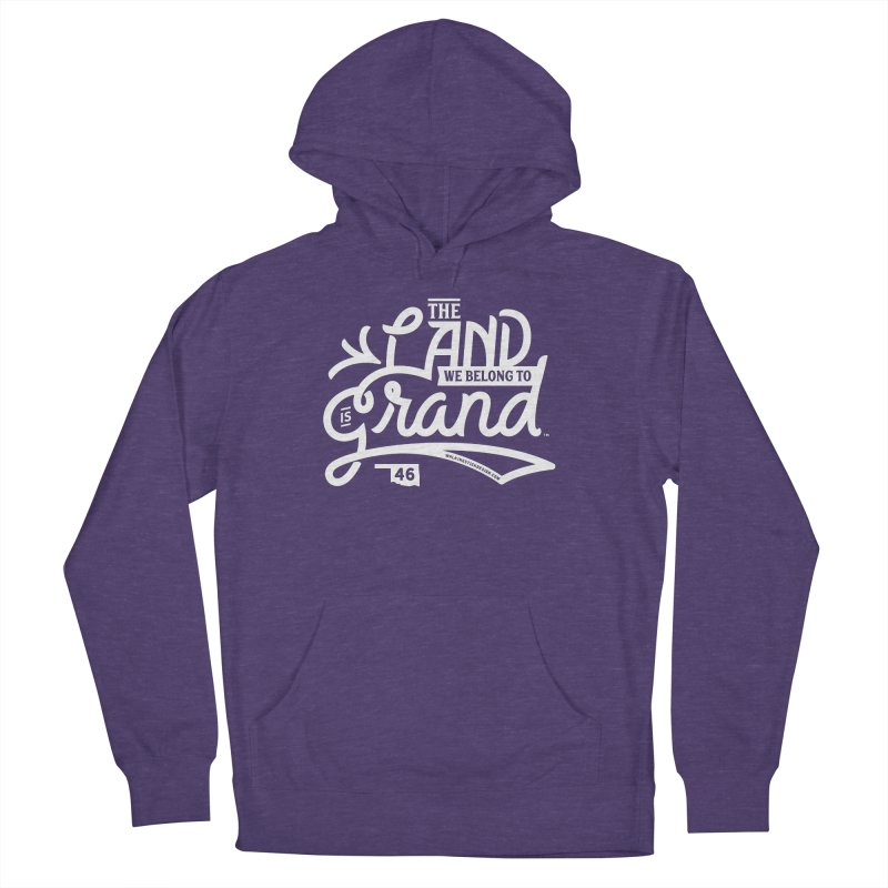 The Land Women's French Terry Pullover Hoody by WalkingStick Design's Artist Shop