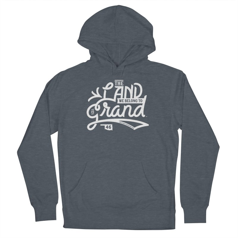The Land Men's French Terry Pullover Hoody by WalkingStick Design's Artist Shop