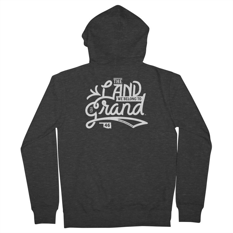 The Land Women's French Terry Zip-Up Hoody by WalkingStick Design's Artist Shop