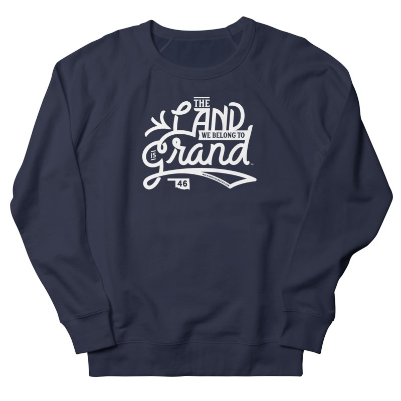 The Land Men's French Terry Sweatshirt by WalkingStick Design's Artist Shop