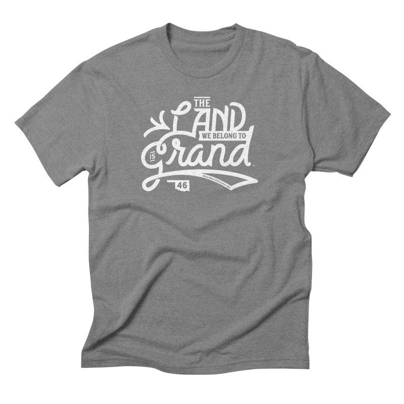 The Land Men's Triblend T-Shirt by WalkingStick Design's Artist Shop