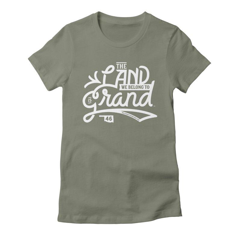 The Land Women's Fitted T-Shirt by WalkingStick Design's Artist Shop