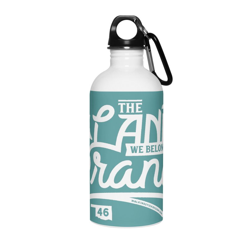 The Land Accessories Water Bottle by WalkingStick Design's Artist Shop