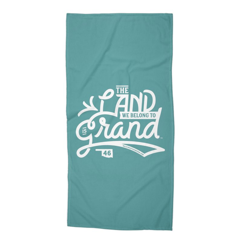 The Land Accessories Beach Towel by WalkingStick Design's Artist Shop