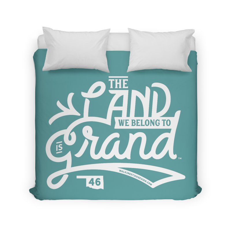 The Land Home Duvet by WalkingStick Design's Artist Shop
