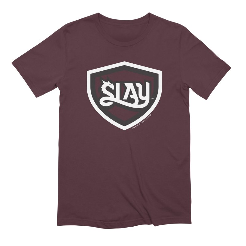 SLAY Shirt - Official Shield Design Men's Extra Soft T-Shirt by WalkingStick Design's Artist Shop