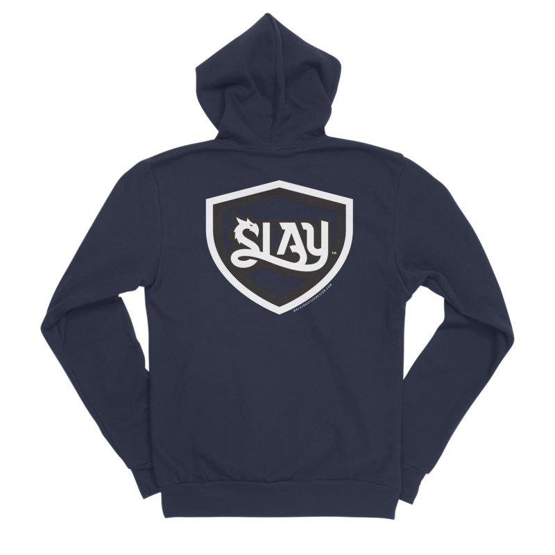 SLAY Shirt - Official Shield Design Women's Sponge Fleece Zip-Up Hoody by WalkingStick Design's Artist Shop