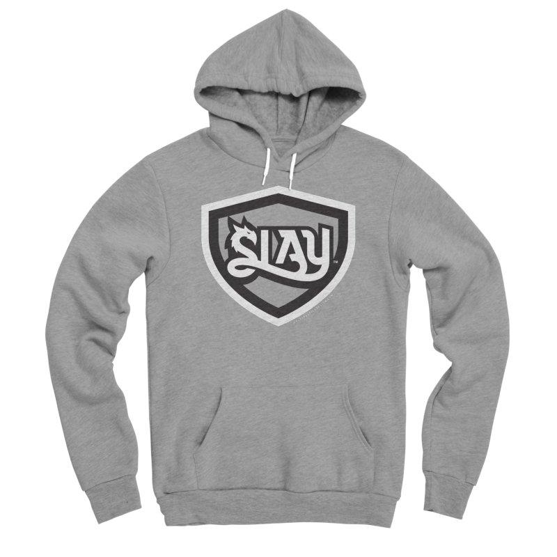 SLAY Shirt - Official Shield Design Men's Sponge Fleece Pullover Hoody by WalkingStick Design's Artist Shop