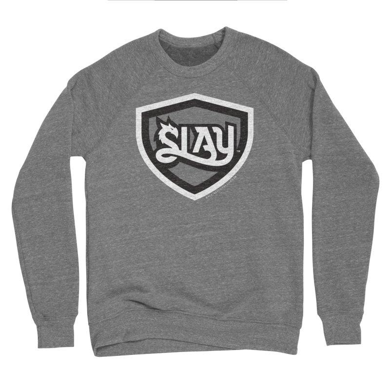 SLAY Shirt - Official Shield Design Men's Sponge Fleece Sweatshirt by WalkingStick Design's Artist Shop