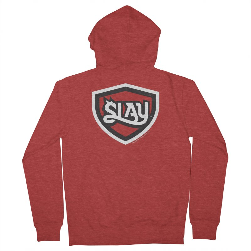 SLAY Shirt - Official Shield Design Men's French Terry Zip-Up Hoody by WalkingStick Design's Artist Shop