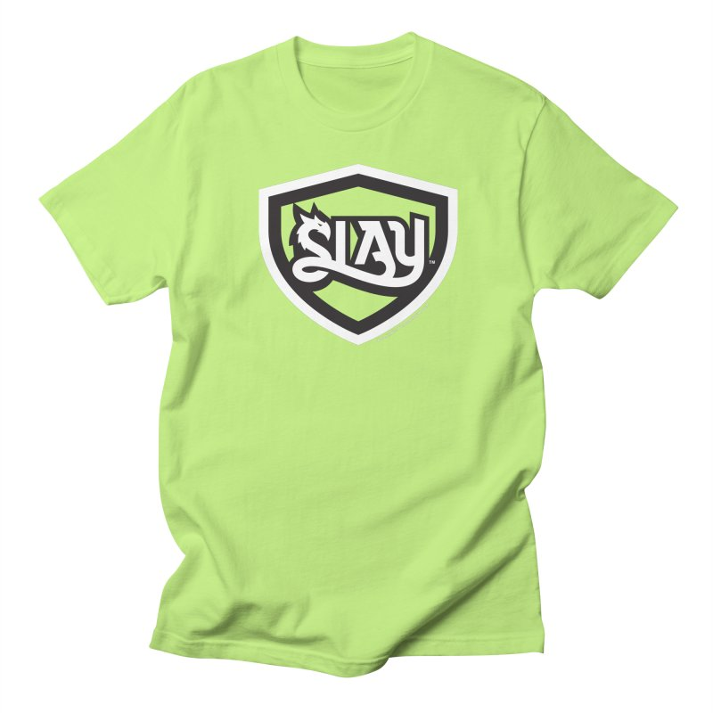 SLAY Shirt - Official Shield Design Women's Regular Unisex T-Shirt by WalkingStick Design's Artist Shop