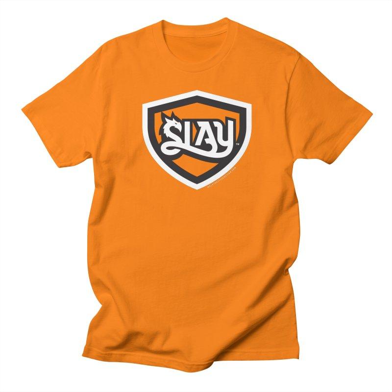 SLAY Shirt - Official Shield Design Men's Regular T-Shirt by WalkingStick Design's Artist Shop