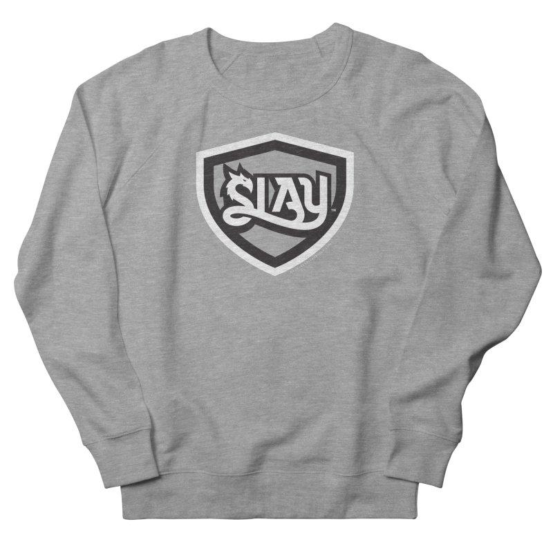 SLAY Shirt - Official Shield Design Men's French Terry Sweatshirt by WalkingStick Design's Artist Shop