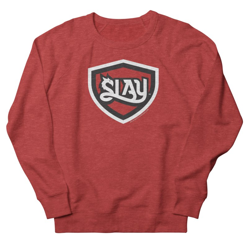 SLAY Shirt - Official Shield Design Men's French Terry Sweatshirt by WalkingStick Design's Artist Shop