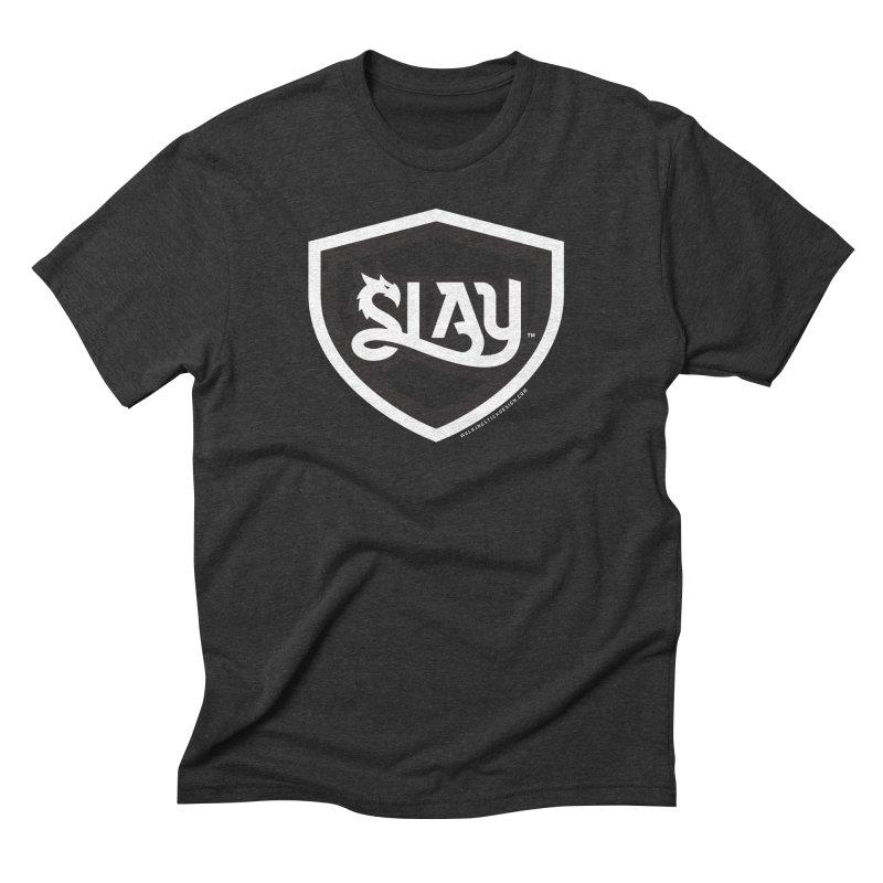 SLAY Shirt - Official Shield Design Men's Triblend T-Shirt by WalkingStick Design's Artist Shop