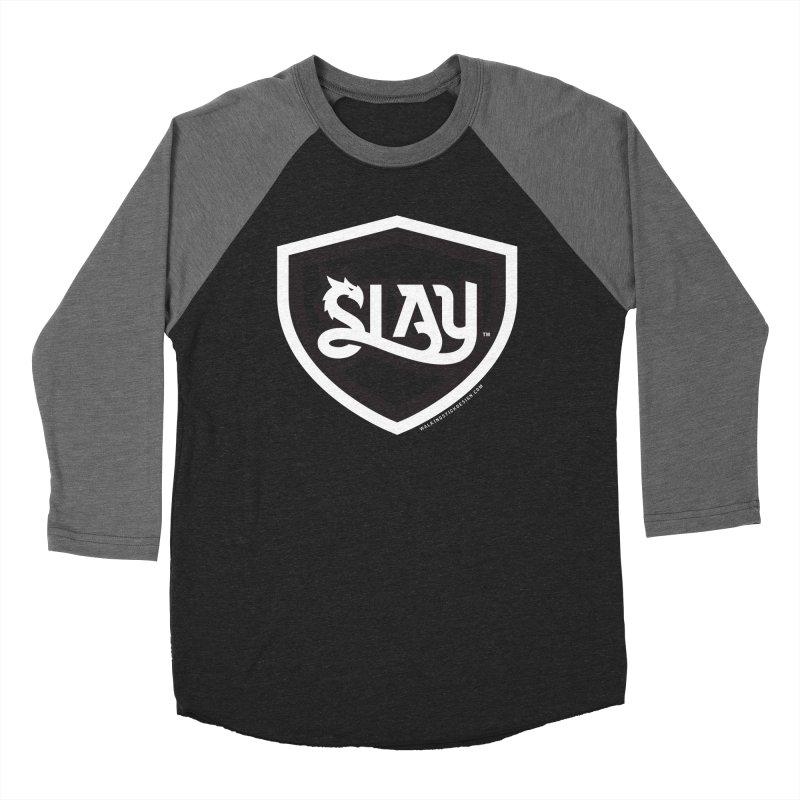 SLAY Shirt - Official Shield Design Women's Baseball Triblend Longsleeve T-Shirt by WalkingStick Design's Artist Shop