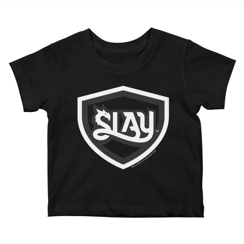 SLAY Shirt - Official Shield Design Kids Baby T-Shirt by WalkingStick Design's Artist Shop