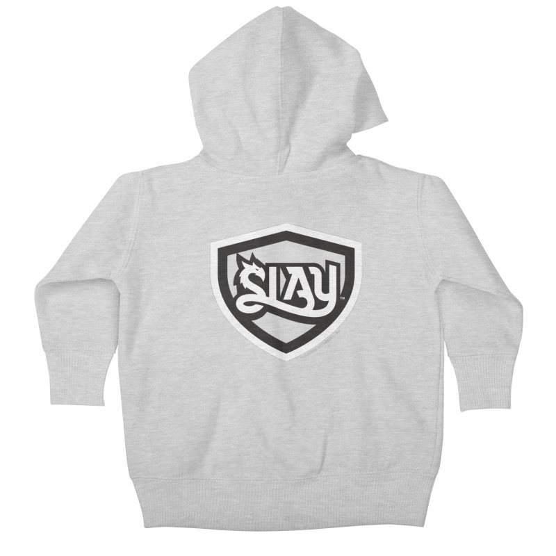 SLAY Shirt - Official Shield Design Kids Baby Zip-Up Hoody by WalkingStick Design's Artist Shop