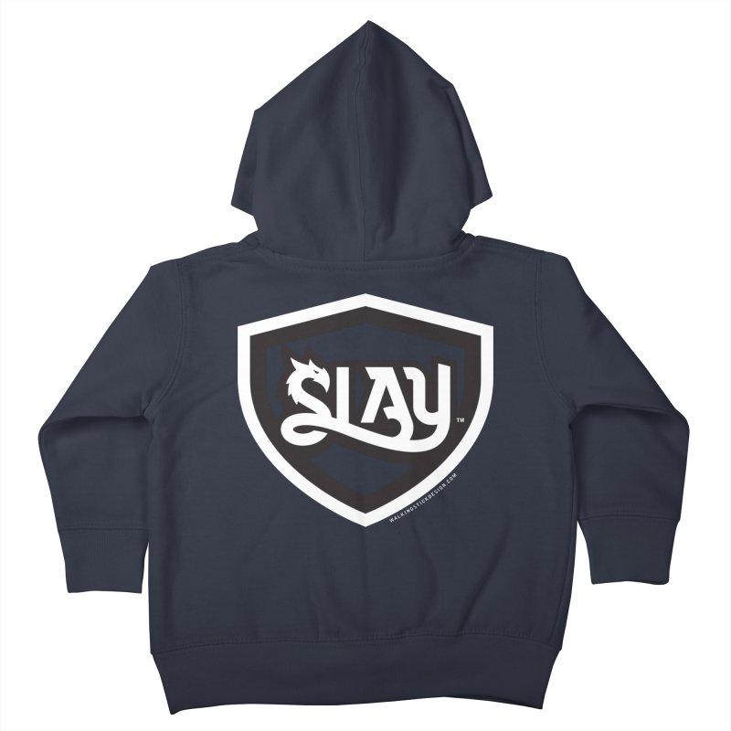 SLAY Shirt - Official Shield Design Kids Toddler Zip-Up Hoody by WalkingStick Design's Artist Shop