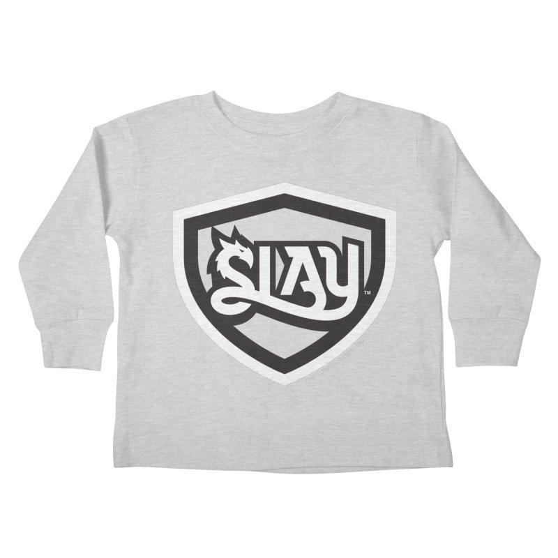 SLAY Shirt - Official Shield Design Kids Toddler Longsleeve T-Shirt by WalkingStick Design's Artist Shop