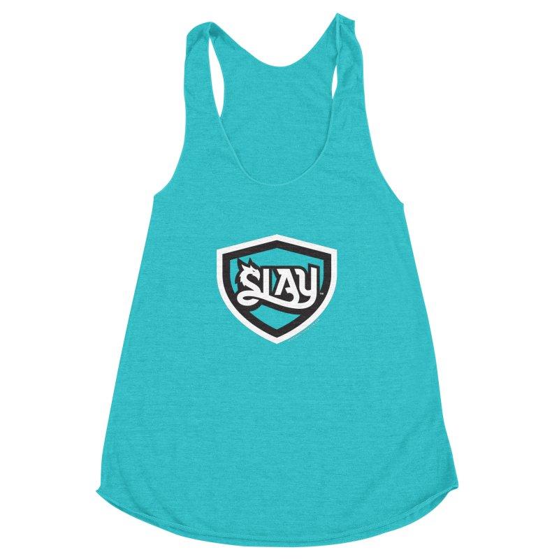 SLAY Shirt - Official Shield Design Women's Racerback Triblend Tank by WalkingStick Design's Artist Shop