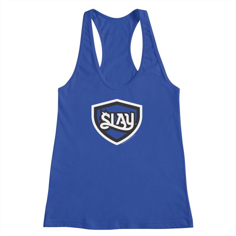 SLAY Shirt - Official Shield Design Women's Racerback Tank by WalkingStick Design's Artist Shop