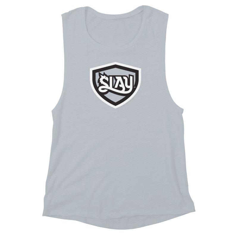 SLAY Shirt - Official Shield Design Women's Muscle Tank by WalkingStick Design's Artist Shop