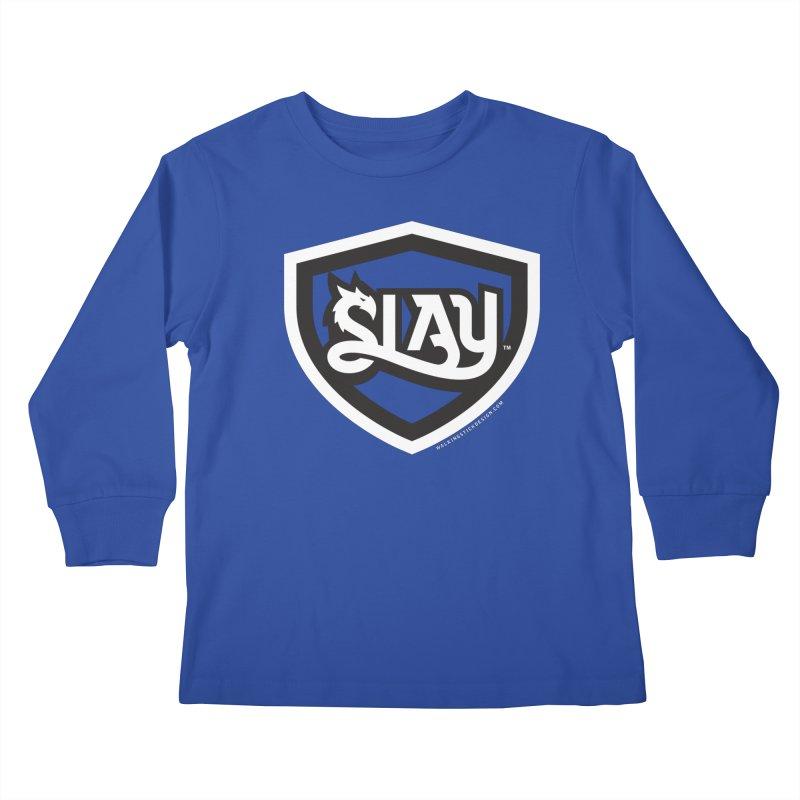 SLAY Shirt - Official Shield Design Kids Longsleeve T-Shirt by WalkingStick Design's Artist Shop