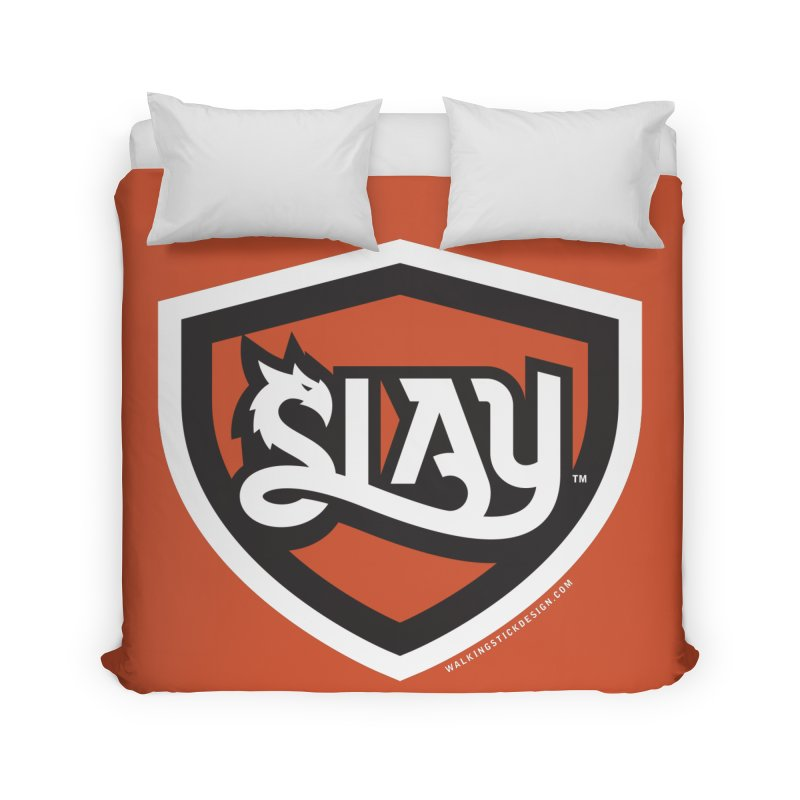 SLAY Shirt - Official Shield Design Home Duvet by WalkingStick Design's Artist Shop