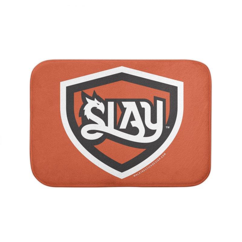 SLAY Shirt - Official Shield Design Home Bath Mat by WalkingStick Design's Artist Shop