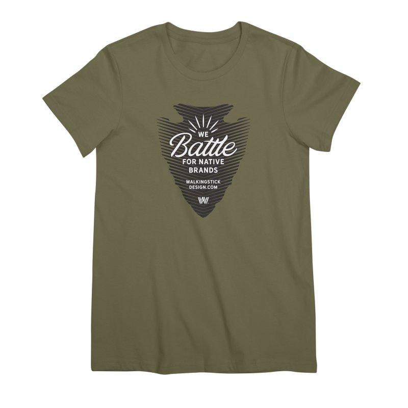 Arrowhead + WalkingStick Design Co. Women's T-Shirt by WalkingStick Design's Artist Shop