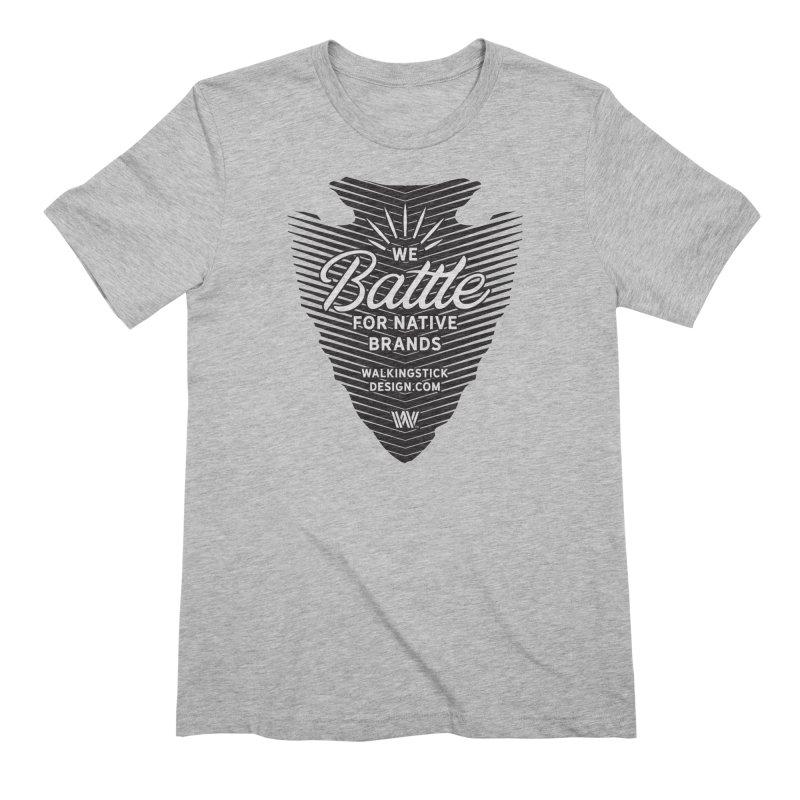 Arrowhead + WalkingStick Design Co. Men's T-Shirt by WalkingStick Design's Artist Shop