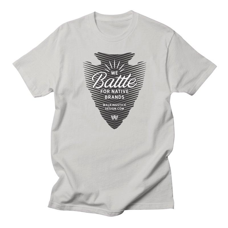 Arrowhead + WalkingStick Design Co. Men's Regular T-Shirt by WalkingStick Design's Artist Shop