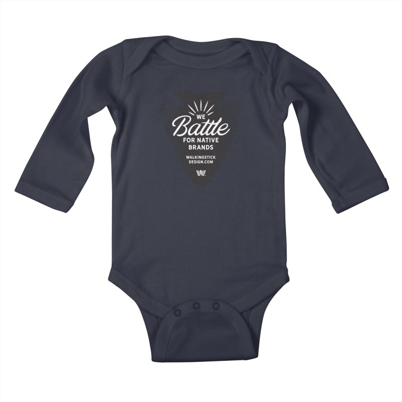 Arrowhead + WalkingStick Design Co. Kids Baby Longsleeve Bodysuit by WalkingStick Design's Artist Shop