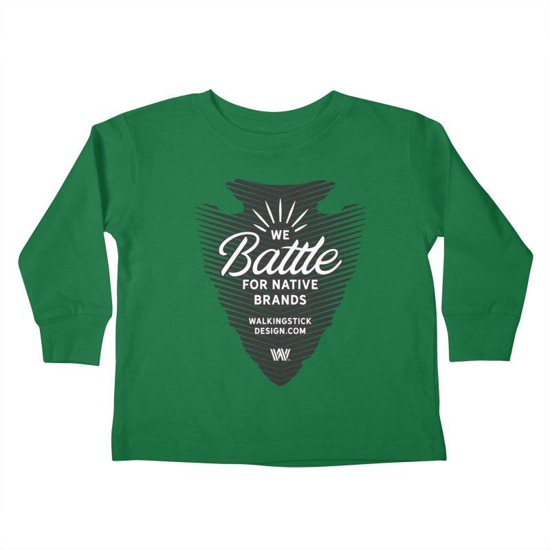 Arrowhead + WalkingStick Design Co. Kids Toddler Longsleeve T-Shirt by WalkingStick Design's Artist Shop