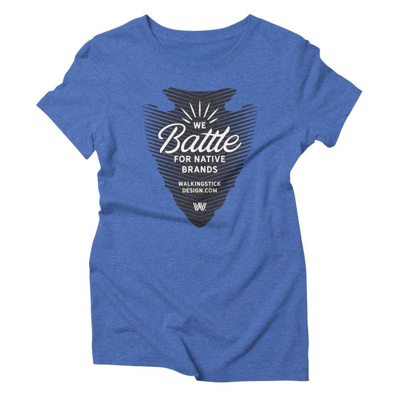 Arrowhead + WalkingStick Design Co. Women's Triblend T-Shirt by WalkingStick Design's Artist Shop