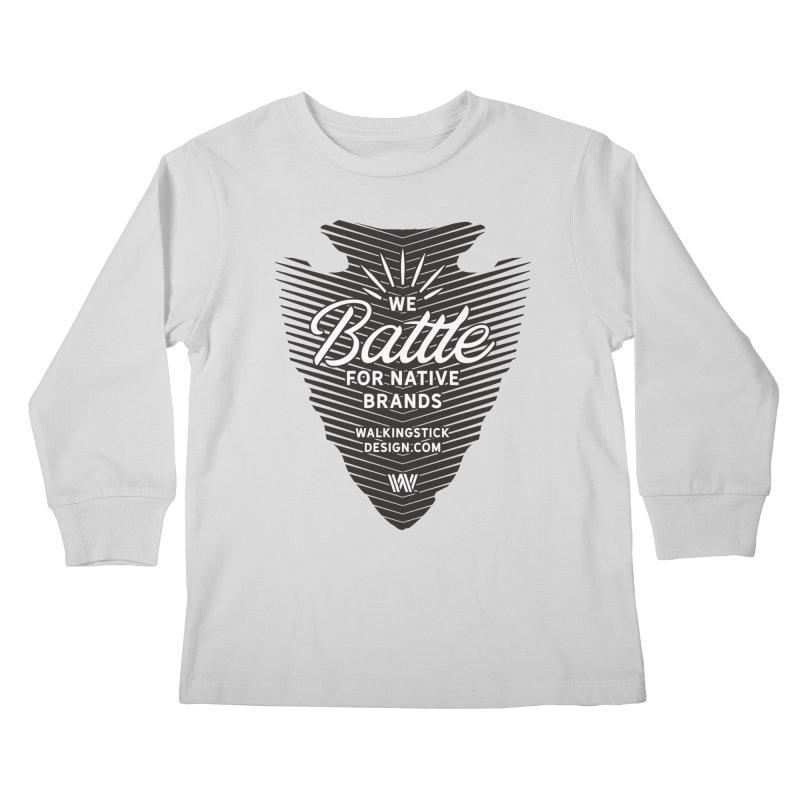 Arrowhead + WalkingStick Design Co. Kids Longsleeve T-Shirt by WalkingStick Design's Artist Shop